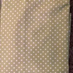 Green and White Polka Dot Curtain Set